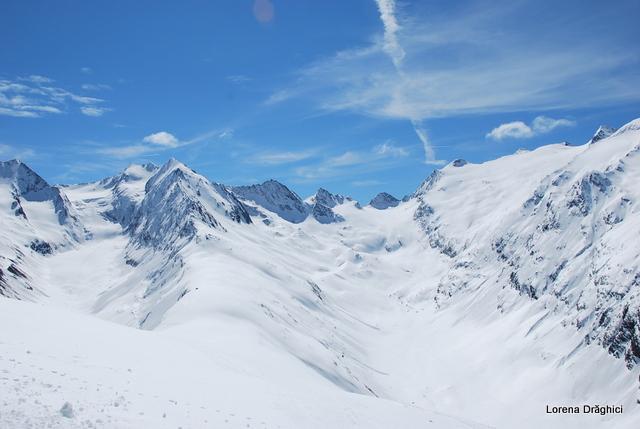 Hohe Mut Alm - vedere spre Alpi