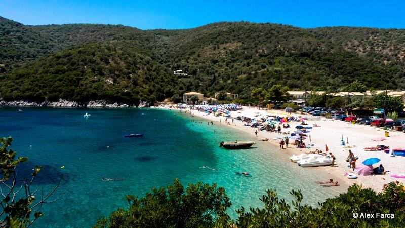 Plaja noastră, lângă Poros Beach Camping
