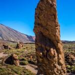 In apropierea vulcanului Teide, peisaj pietros