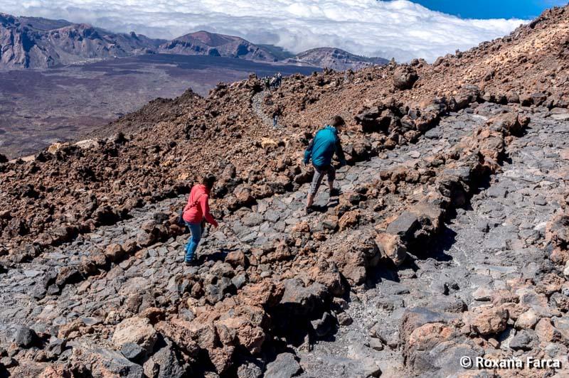Poteci pietruite pe Vulcanul Teide, Tenerife