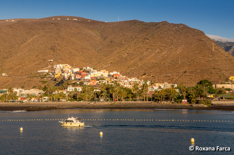 Sosirea in port, la Gomera