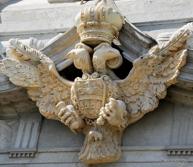 Cetatea Alba Carolina - Poarta a III-a vulturul bicefal