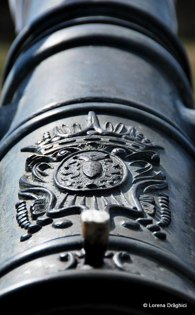 Cetatea Alba Carolina - detaliu tun