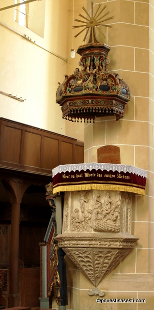 Biserica Biertan - amvonul