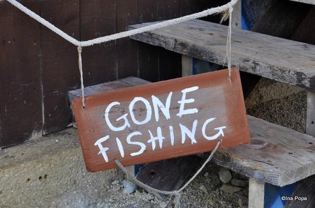 Am plecat la pescuit.