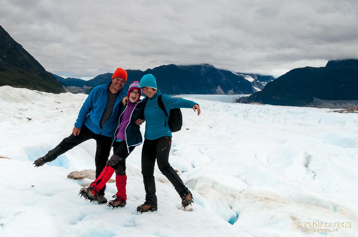 trekking pe ghetar în Patagonia