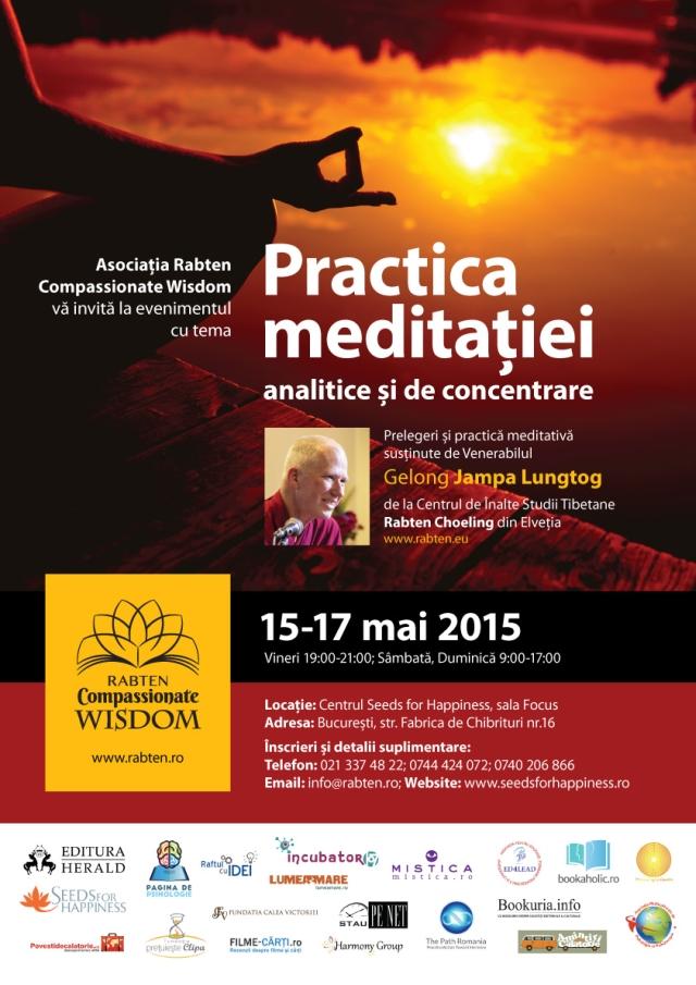 afis web-Gelong Jampa-la Bucuresti-meditatia-15-17 Mai. parteneri