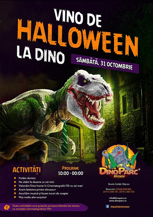 poster Halloween la Dino Parc
