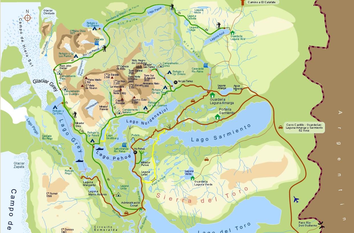 Harta Torres del Paine