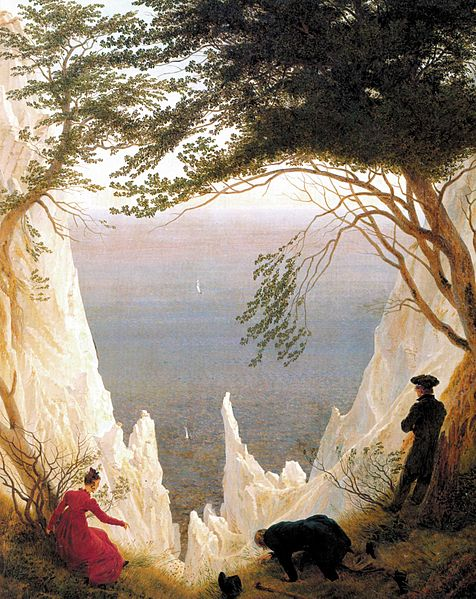 Caspar David Friedrich's - Chalk Cliffs on Rügen