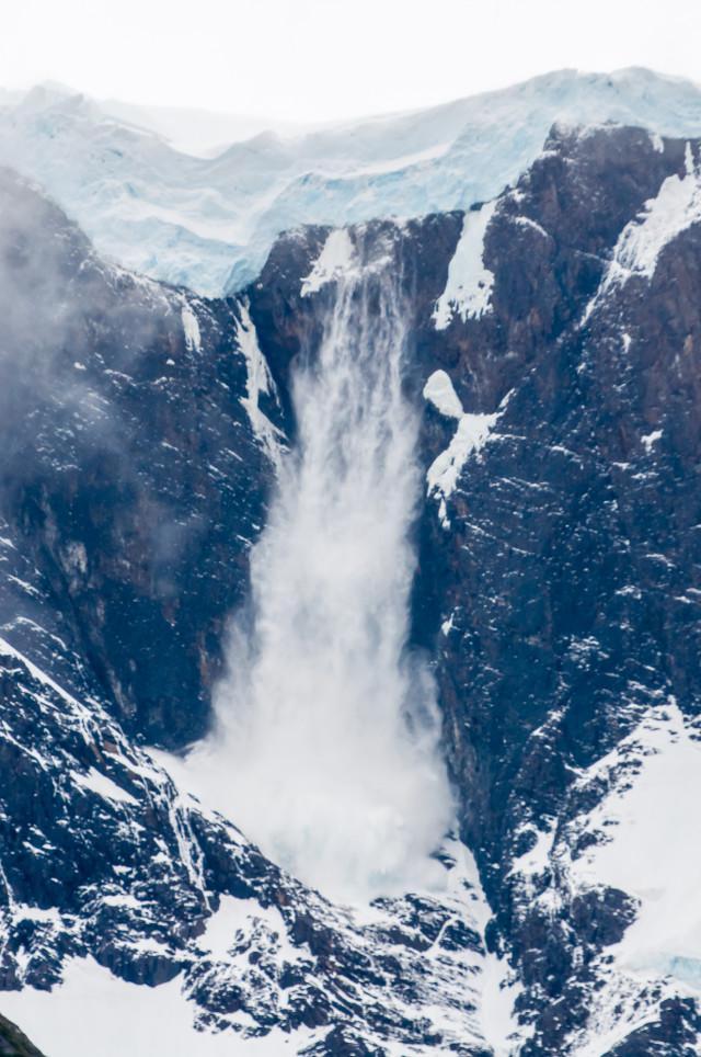 Avalanşă în Torres del Paine
