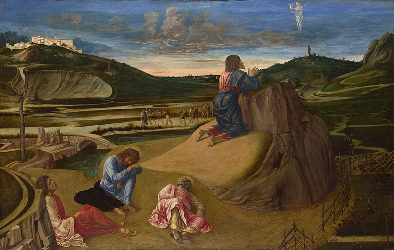 Giovanni Bellini, active about 1459; died 1516 The Agony in the Garden about 1465 Egg on wood, 81.3 x 127 cm Bought, 1863 NG726 http://www.nationalgallery.org.uk/paintings/NG726