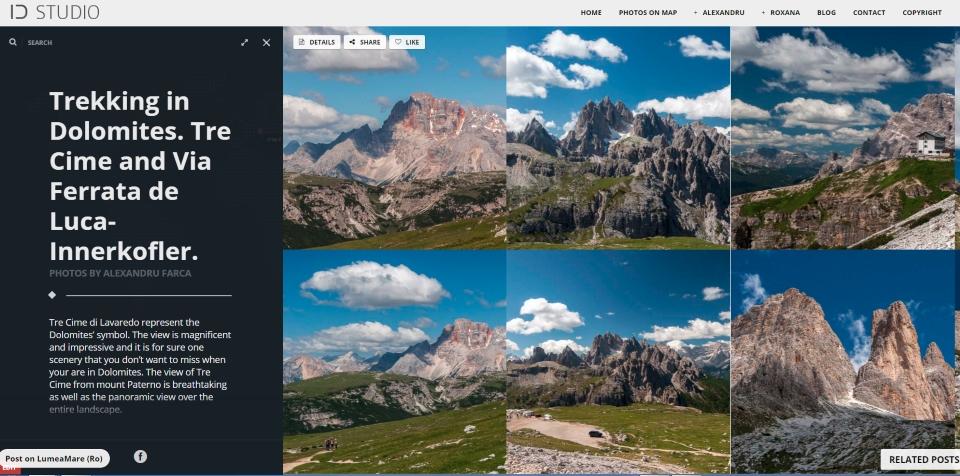 Galerie fotografii trekking Tre Cime. Click pe imagine.