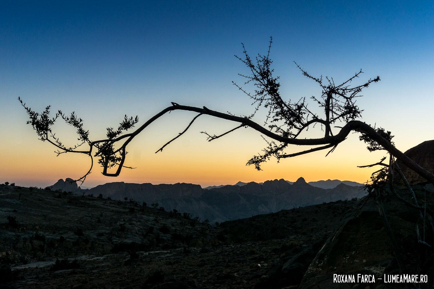 Apusul pe Jebel Shams