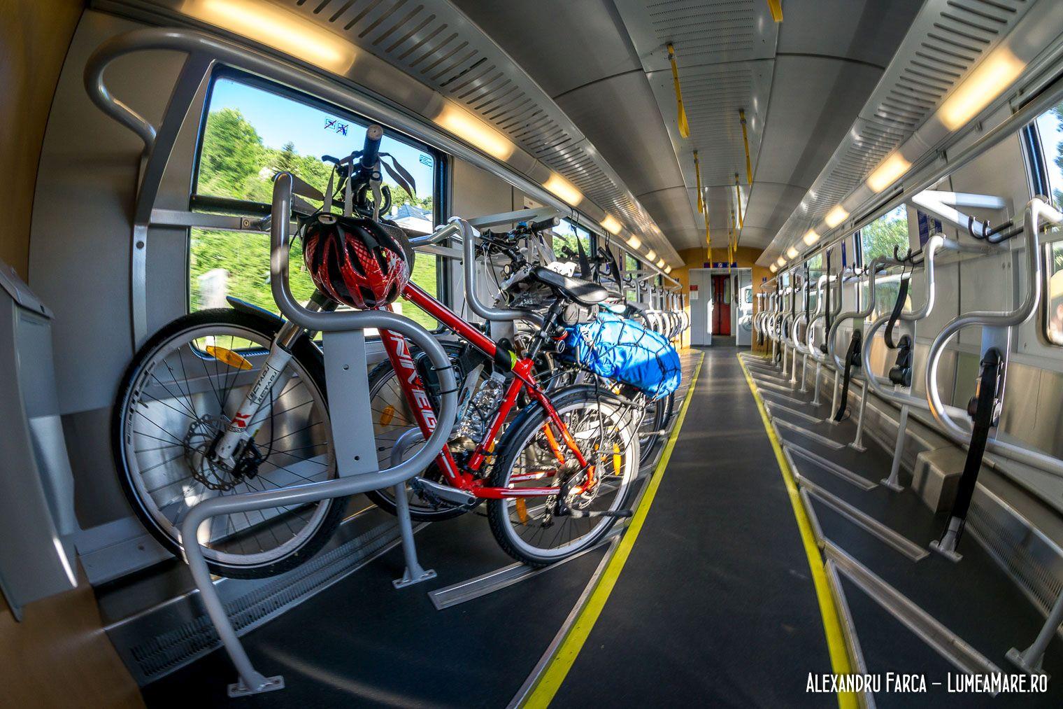 Trenul pentru biciclisti dinspre Viena spre Passau
