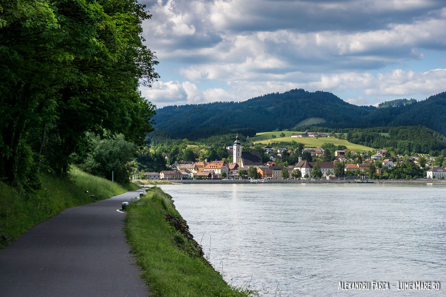 Grein văzut de pe Donauradweg