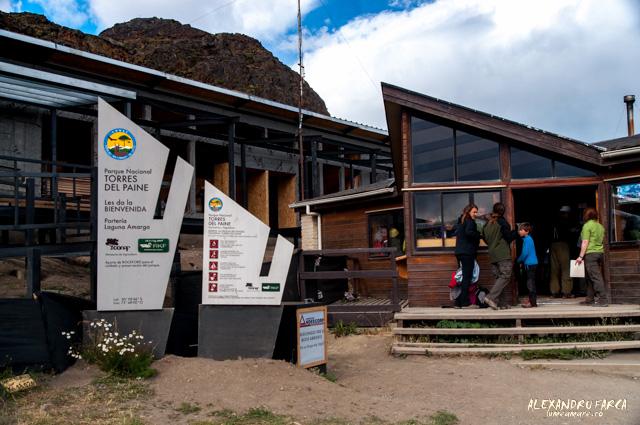 Intrarea în parcul Torres del Paine