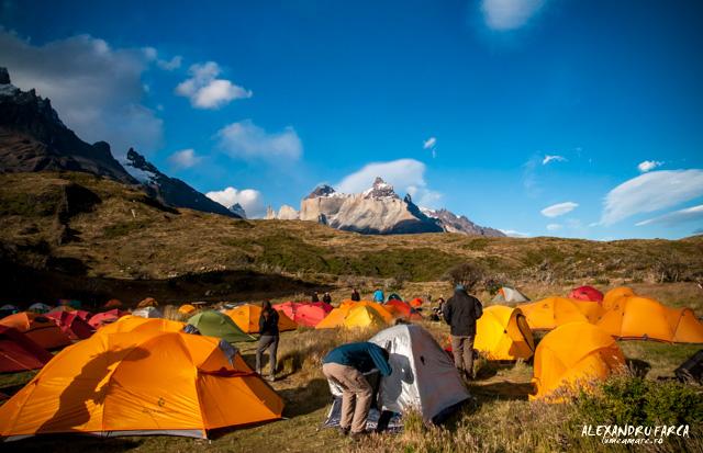 Torres del Paine, Camping Paine Grande