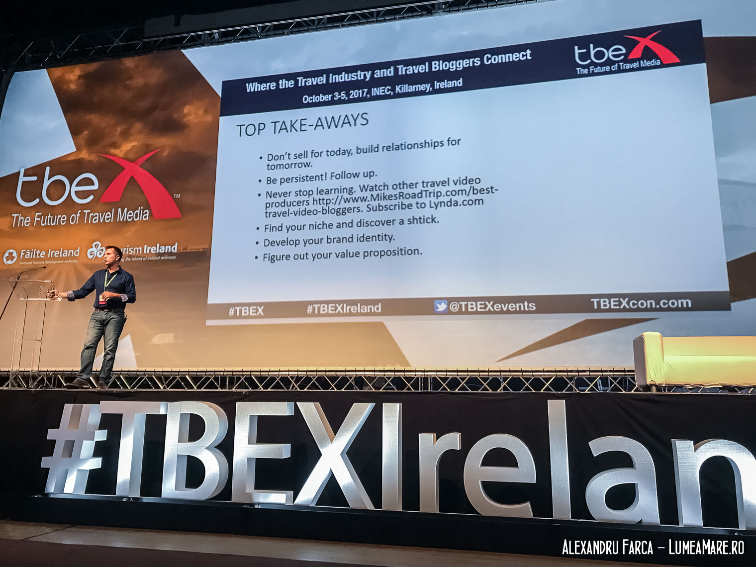 Mike Shubic at TBEX Ireland 2017