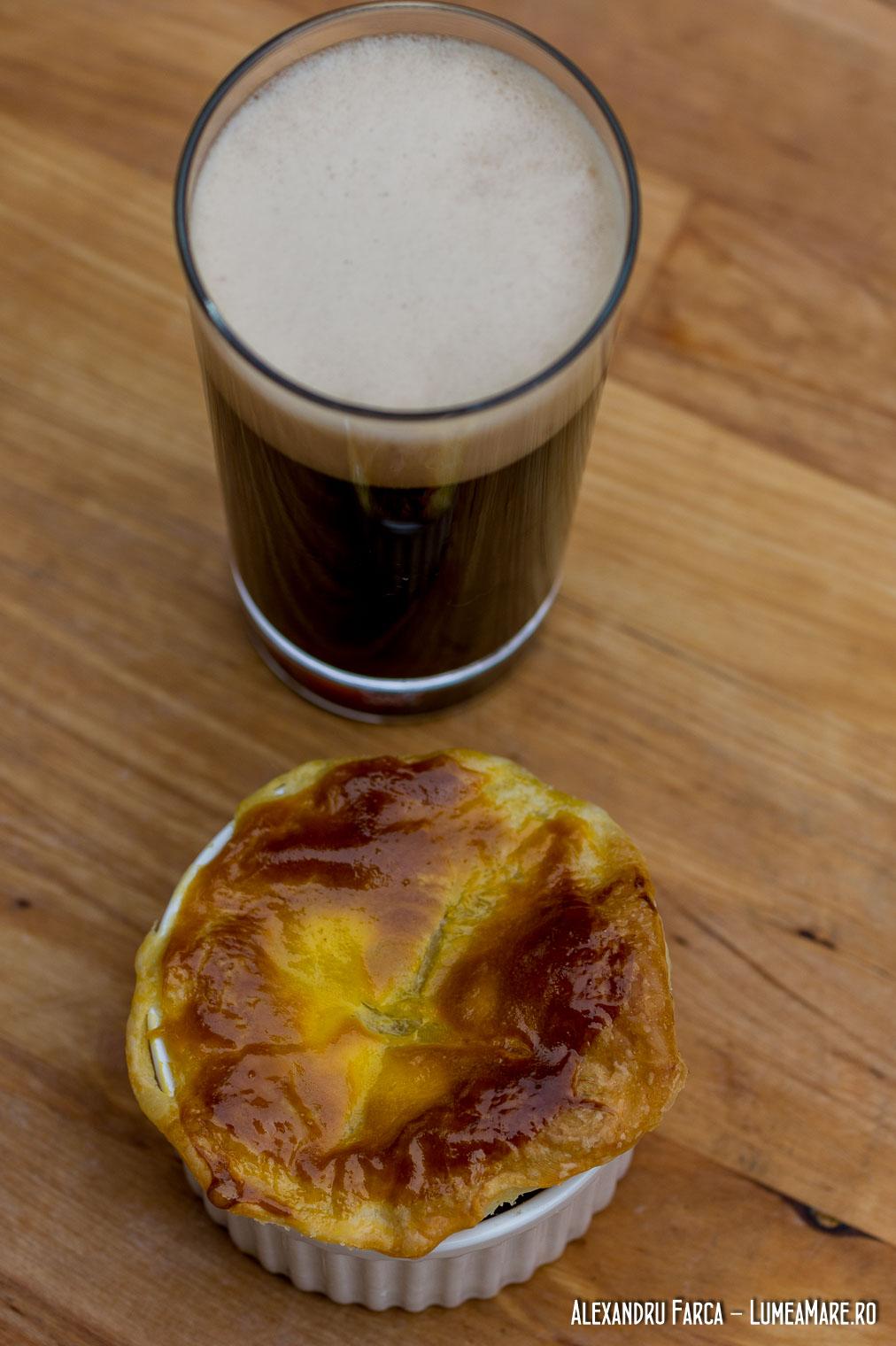 Plăcintă irlandeză cu vită şi bere Guinness