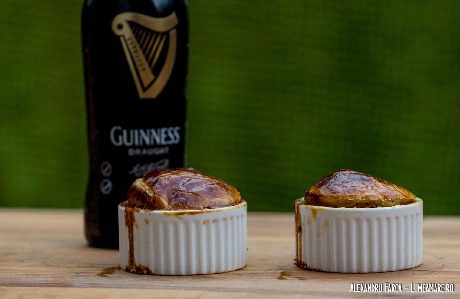 Plăcinta irlandeză cu vită şi bere Guinness