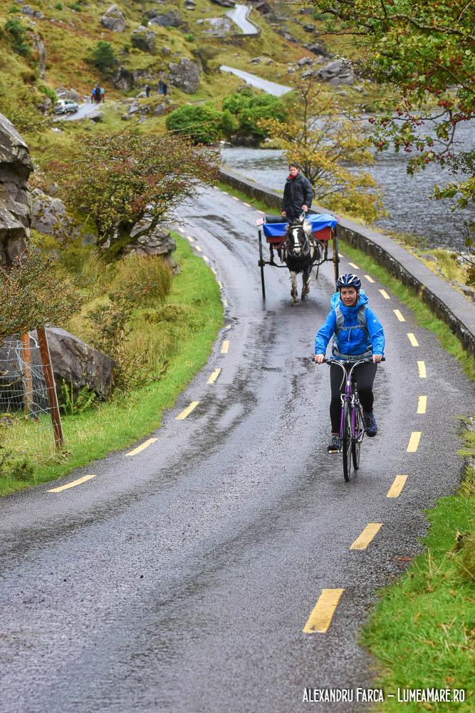 Pedalând pe Gap of Dunloe, pe o ploaie torențială