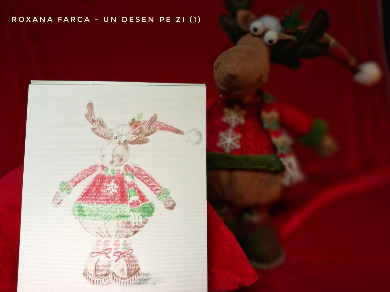 """Primul desen din provocarea """"Un desen pe zi"""" - Roxana Farca, LumeaMare"""
