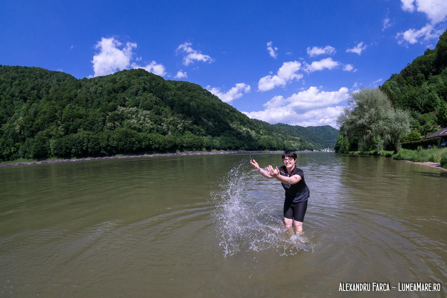 Pauză de răcorit în Dunăre