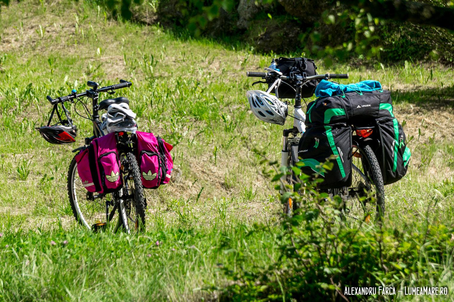 Cu biicletele pe malul Dunării