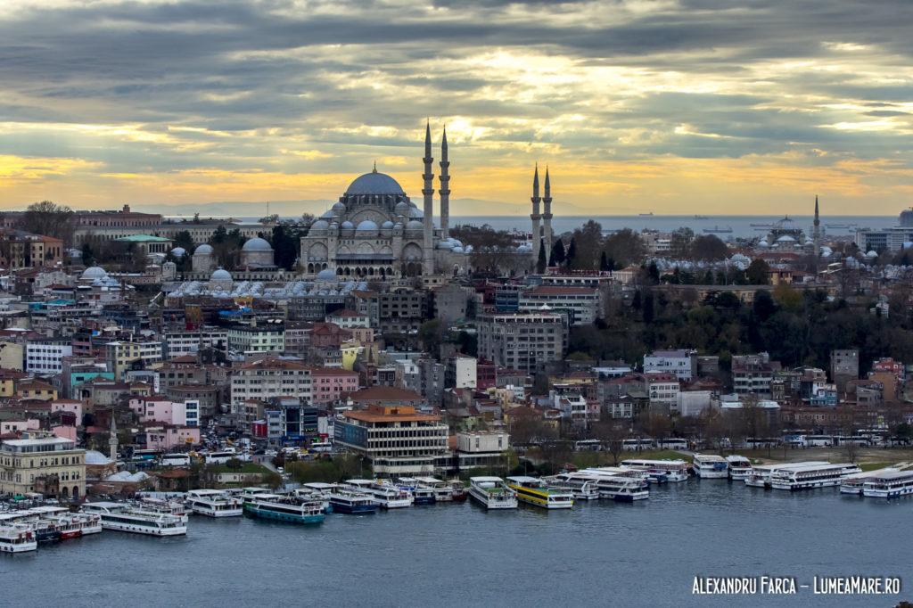 Privind Istanbului din Turnul Galata