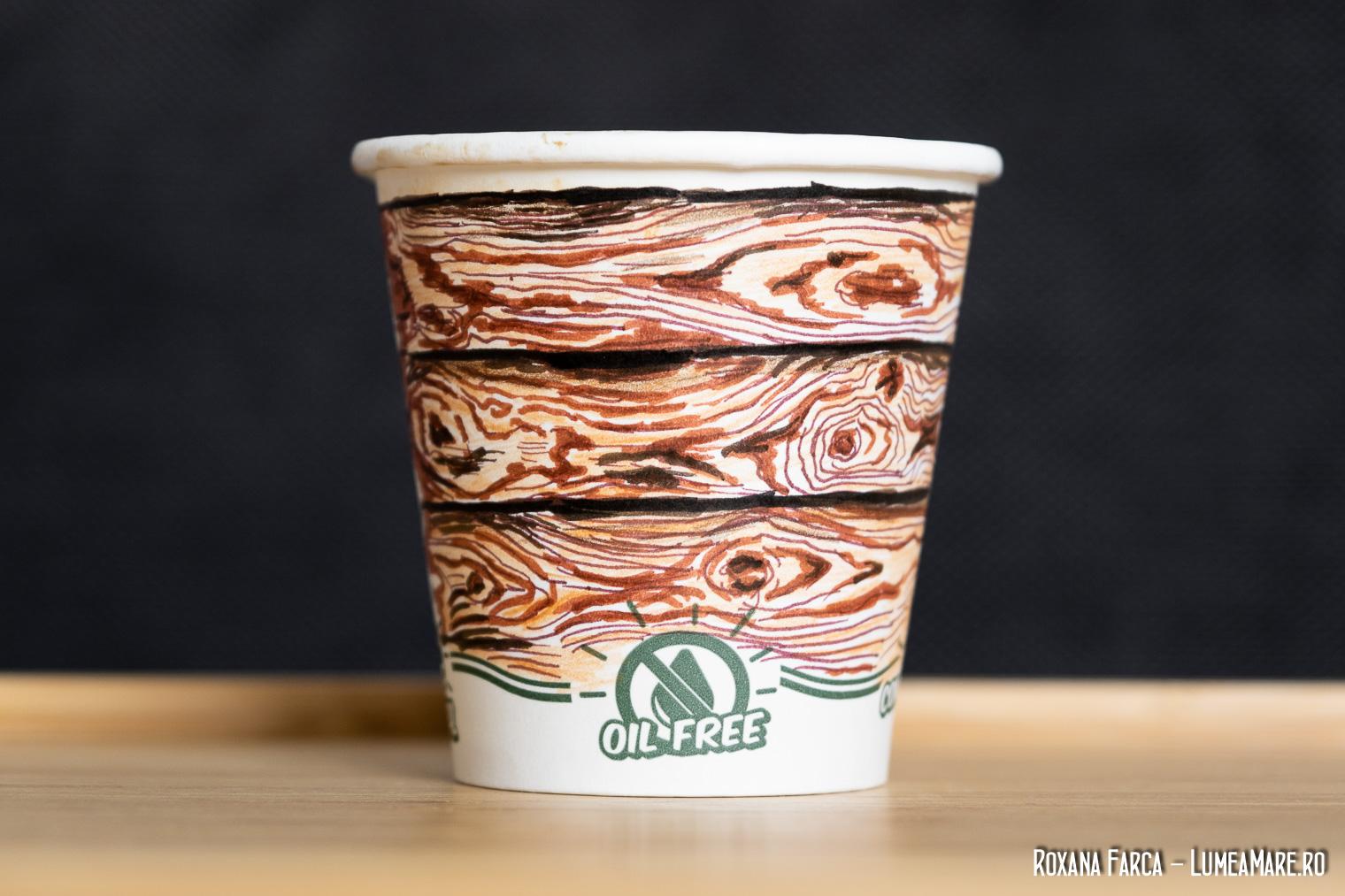 Desene pe cana de cafea